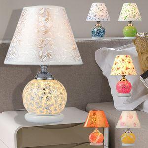 모자이크 책상 램프 수제 침실 거실 램프 책상 미술 연구 공예 눈 보호 머리맡의 창조