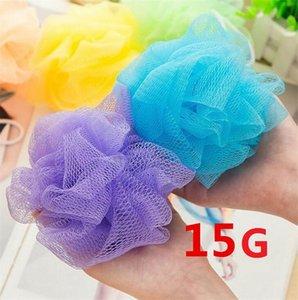 Atacado de malha colorida flor banho de nylon de banho Spa Shower Scrubber esfera do banho de lavagem colorida Bath Escovas Esponjas I001