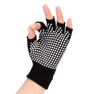 Coton Yoga Fingerless Gants Femmes Gants De Sport Antidérapants Professionnels Automne Hiver Chaud Gants De Fitness Demi-Doigts