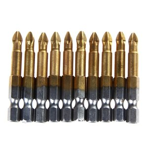 S2 stahl 10 x Anti Slip Elektroschrauber Bits Einseitig Magnetic Hex Schaft PH2 50mm