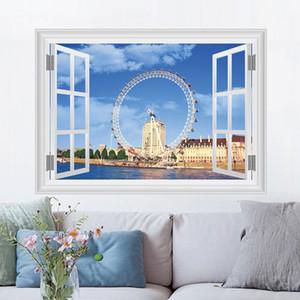 3D London Eye Duvar Etiketler Ev Dekorasyonu Tv Koltuk Arkaplan Landmark Moda Odası Duvar Kağıdı ücretsiz gönderim
