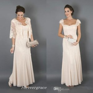 Elegant Champagne Colour With Jackets Mother of the Bride Dresses Formal Godmother Women Wear Evening Wedding Guests Dress Plus Size