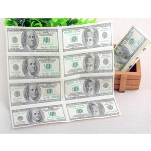 Vente En Gros-100 Dollar Papier Hygiénique Serviette En Papier Impression Naturel Confort Drôle Personnalité Partie Populaire Essuyer