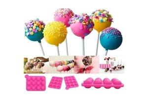 케이크 용 실리콘 몰드 도구 롤리팝 팝 12 홀 금형 실리콘 원형 케이크 파티 쿠키 캔디 초콜릿 제조기 베이킹