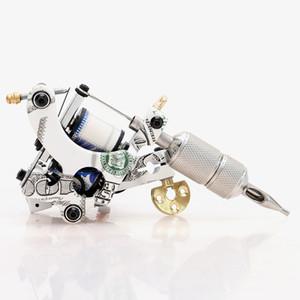 Top Pro Handmade Tatuagem De Cobre Com Pintura Do Dólar Machine Gun 10 Bobinas Envoltório Set Shader para Tattoo Supply TM8321