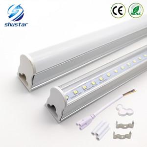 2 ft 3 ft T5 Led Tüp Işıklar 4ft 22W LED Tüpler SMD 2835 LED Floresan Işık Tüpler Sıcak / natrual / Soğuk Beyaz AC85-265V