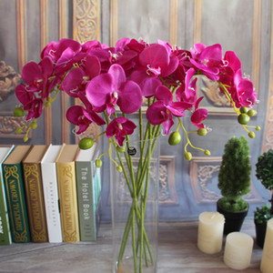 20 Adet Yapay Güve Kelebek Orkide Çiçek Phalaenopsis Ekran Sahte Çiçekler Düğün Odası Ev Dekor 8 renkler