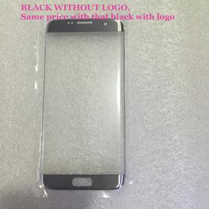 عدسة زجاجية سوداء اللون منحنى لسامسونج S7 edge G9350 استبدال أجزاء الشاشة الأمامية زجاج بانيل LCD الخارجي