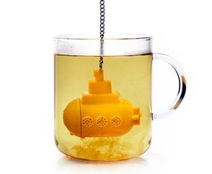 Free Shipping--New fashion food grade novelty teasub tea infuser Silicone Tea Infuser Strainer Coffee & Tea Infuser Filter Tools