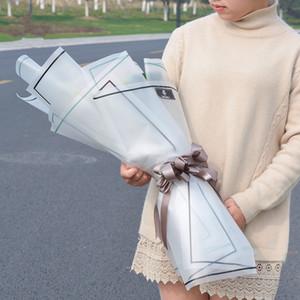 무광택 종이 시리즈 꽃 패키지 무광택 반투명 셀로판 종이 재료 꽃 꽃다발 장식 포장 포장 20pcs