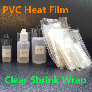 PVC Heat Film E-Liquid Bottles Clear Shrink Film Film Sleeve Seals para 5ml 10ml 15ml 20ml 30ml 50ml Eliquid Ejuice Vape Dropper Bottles