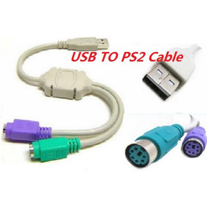 2.0 USB to PS2 Mouse and Keyboard Converter Cable Adapter for Computer Desktop * 200pcs lot