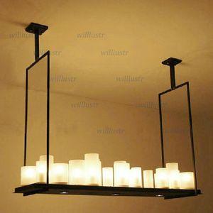 Modern Kevin Reilly Altar Pendant lambası uzaktan kumanda LED mum avize Işık Yenilikçi metal fikstürü Retro mum süspansiyon lamba