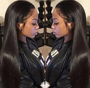 실크 톱 풀 레이스 가발 블랙 레이스 인체의 가발없는 풀 레이스 인체 헤어 가발 8A Indian Virgin Hair Silk Top