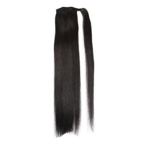 Longueur 16 « -30 » 100% cheveux humains Remy Clips naturel brésilien Ponytail Prêle / sur cheveux raides Extension Cheveux