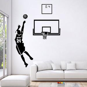 Baloncesto Hombres Niños Pegatinas de Pared Deportes Wallpaper Tatuajes de Pared Art Kids Boys Room Home decoraciones envío gratis