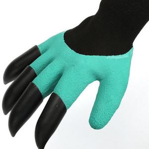 Giardino Genie Gloaves con artigli punta di dita Verde Dig e pianta guanti da potatura sicuro Giardino Guanti da scavatura impermeabile con scatola al minuto