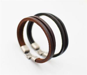 Vintage Bracelet for Women and Mens Fashion Leather 100% cowhide Leather Handmade bracelet Woven bracelet Free shipping TA146-1