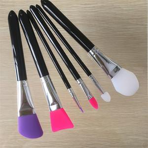 Самые новые Силиконовые кисти для макияжа 6шта Профессионального макияж кисти Косметика Инструменты Kit для Foundation Face Powder Mud Mask Оптовой 3001075