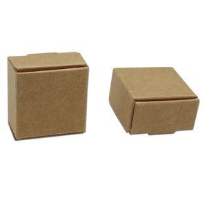 Piccola scatola d'imballaggio di regalo di carta di Kraft di 3.7 * 3.7 * 2cm per i gioielli fatti a mano della torta del forno della caramella di Candy dei gioielli fatti a mano di DIY del cioccolato Scatola di cottura del cioccolato