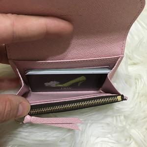 personalización aber Nuevo Rosalie la moneda del monedero de las mujeres de calidad superior de cuero real del bolso M62361 del portatarjetas Rose Ballerine