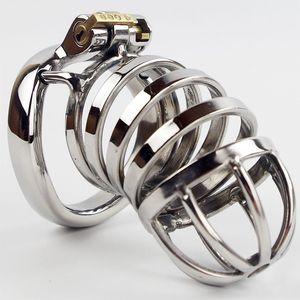 Metal Belt Chastity Men Anello in acciaio inox Acciaio inox Urethral Penis Device Penis Chastity Block Belt Uomo Wicjr