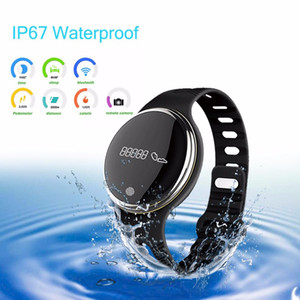 Wholesale E07 Waterproof IP65 Bluetooth Smart Watch Bracelet Sport Healthy Pedometer Sleep Monitor smart watches for android phones