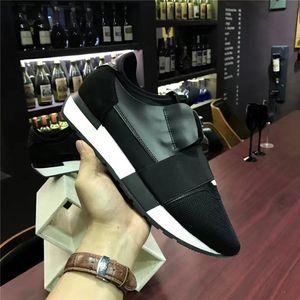 2017 pisos DISEÑO DE LUJO marca de diseño de cuero genuino de los hombres de las ZAPATILLAS DE CORREDORES PARA HOMBRE MUJERES Skateboard zapatos casuales para mujer