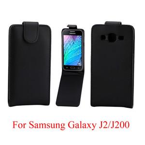 Flip Cover per Samsung Galaxy J2 J200 cassa del telefono Back coque PU pelle Flip verticale Up-Down Open skin pouch Copertura del telefono