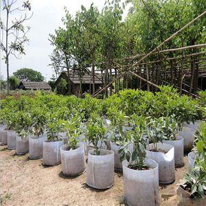 Riutilizzabile rotondo tessuto non tessuto vasi vaso sacchetto di radice contenitore crescere sacchetto di aerazione contenitore giardino forniture pentola