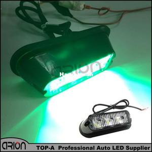 Sıcak Yeşil Renk 11 Flaş modları 3 LED Araç Kamyon Grille Strobe Uyarı Acil Kurtarma Işık Yanıp Sönen Lamba 12 V-24 V