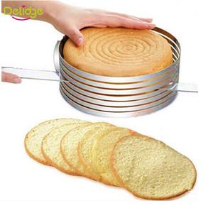 1 stück einstellbare kuchenschneider runde form brot kuchen slicer einstellbar geschichtet kuchen slicer mold cutter ring werkzeuge
