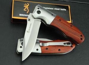 Browning DA51 Hızlı Açık Taktik Katlanır Bıçak Ahşap Kolu 3Cr13Outdoor Kamp Avcılık Survival Pocket Knife Yardımcı EDC Aracı Koleksiyonu