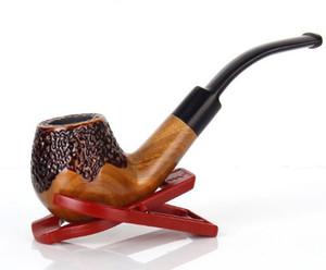 Abnehmbarer gewölbter Filter Zigarettenhalter Mundstück flache Mund alte Holz Handwerk grün Tan Sand Rohr Geschenk