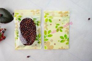 12 * 20 cm, 100 teile / los Blume druck PET kunststoff ziplock tasche mit window-wasserdichte walnüsse verpackung beutel, wiederverschließbare reis / salzsack