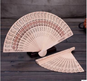 Bridal Wedding Fans Chinese Wooden Fans Bridal Accessories Handmade 8'' Fancy Cheap Wedding Favours Small Gifts for Guests Ladies