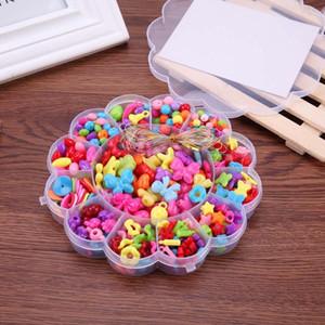 350pcs / lot mixte enfants filles bricolage perles ensemble chaîne de bijoux faisant des accessoires enfants précoce jouets éducatifs artisanat cadeau de noël