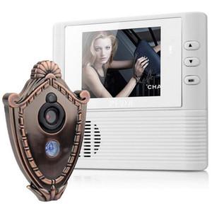 2.8 인치 Lcd 디지털 도어 카메라 Doorbell 엿봄 도어 뷰어 눈 홈 보안 카메라 캠 도어 벨 3 배 줌