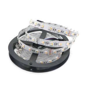4 colori non impermeabili in 1 chip LED 5050 60 LED / m 5 m / lotto DC 24V flessibile RGB + bianco / RGB + bianco caldo