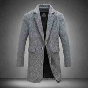 Clothing 5XL 2021 New Wine Coat Spring Top Fashion Men Winter Overcoat Quality Male Brand Wholesale- Homme Trench Red Style Trench Coat Supr