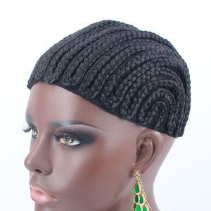 Heiße Verkaufs-Geflochtene Perücke Caps Crotchet Pider Cap für Cap Leicht zu Tragen Geflochtene Weaving Cap für Schwarze Frauen