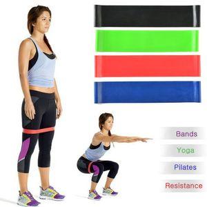 Suprimentos de fitness Yoga Stripes Exercício Resistance Loop Bandas Fitness Stretch -Elastic Power Weight Bands -Faixas de desempenho de força