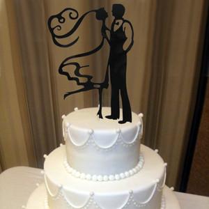 Gros-Acrylique La Mariée Mariée Drôle Décorations De Gâteau De Mariage Personnalisé De Décoration De Gâteau De Mariage Cake Topper OH011