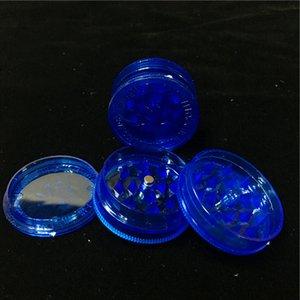 Günstige 1,7 Zoll Blue Acryl Herb Grinders 3-Teile Kunststoff Herb Grinders Rauch Herb Grinders Fress Versand World Wide