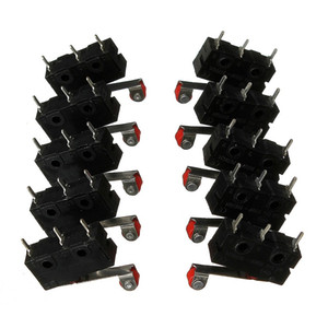 10 x Palanca de rodillo Terminales de PCB Límite micro Interruptor de cierre / cierre normal Interruptores KW12-3 Precio favorable 5A