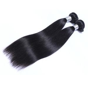 Los paquetes de cabello humano rectos brasileños no procesados Remy Hair tejan tramas dobles 100 g / paquete 2bundle / lot se pueden teñir las extensiones de cabello blanqueadas