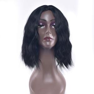 hanzi_beauty Short Kinky Curly Synthetic Hair Wigs Heat Resistant Fiber Headwear Party Cosplay Wig for Black Women