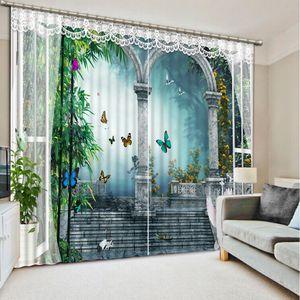 Top Classic 3D European Style roman custom curtain fashion decor home decoration for bedroom