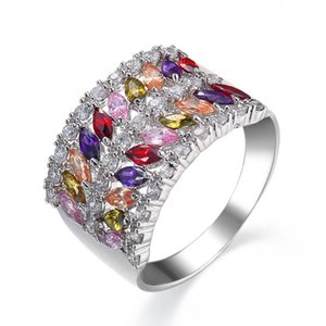 New Jewelry Full Diamonique CZ 10KT Gold Filled Wedding Engagement Band Promise Ring