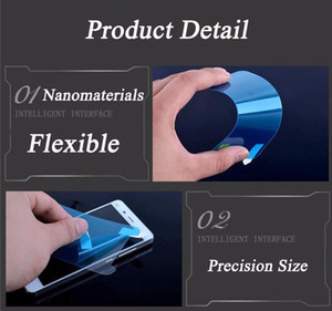 Nano Soft Explosion-Proof Membrane Screen Protector Film Guard For iPhone 7 Plus 6 6S 4 4S Samsung Galaxy S6 S5